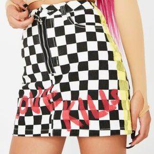 🆕 'Love Kills' mini skirt